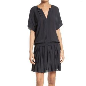 NWOT Joie Bryton Pleated Blouson Dress Sz S